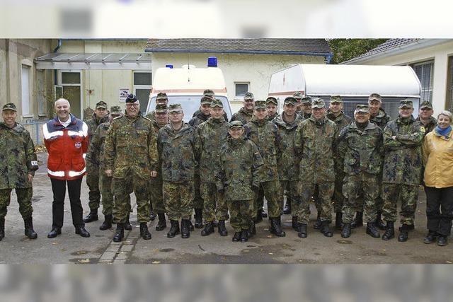22 Feldpostler erhalten in Kenzingen eine Sanitätsausbildung