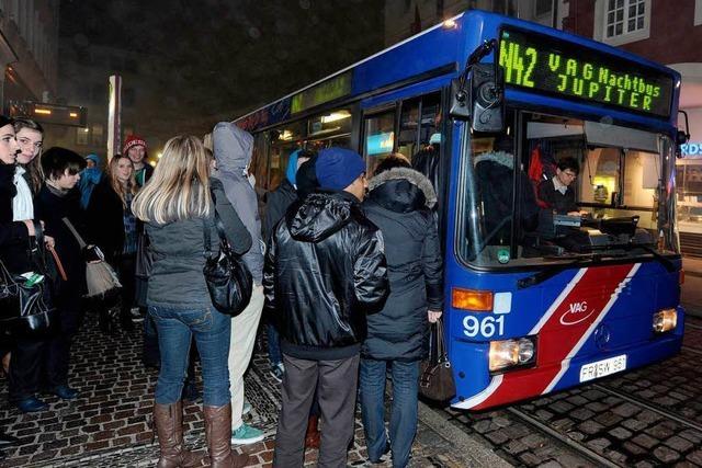 Die VAG soll am Wochenende mehr Nachtbusse rollen lassen