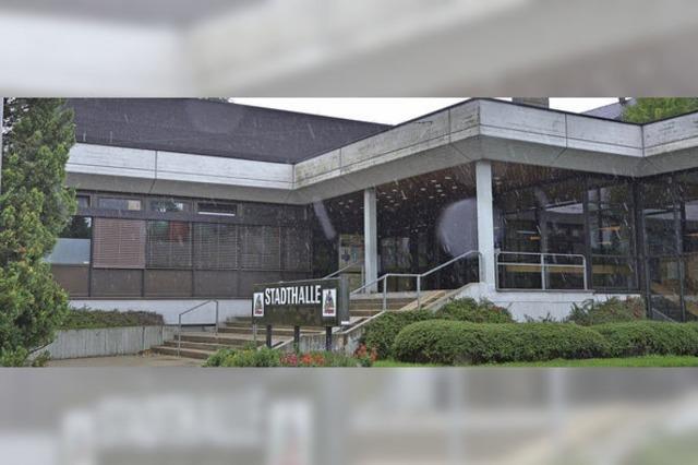 Stadthalle kann im Jahr 2015 nicht genutzt werden