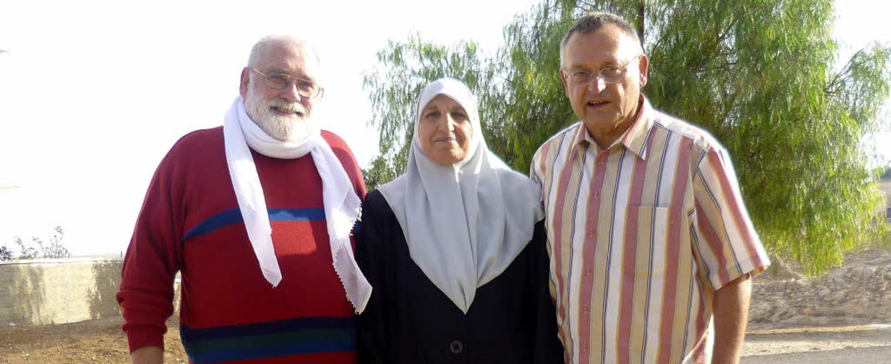 Besuch beim Projekt in Palästina (von ...ehinderten-Nothilfe, und Fatima Thweb   | Foto: privat