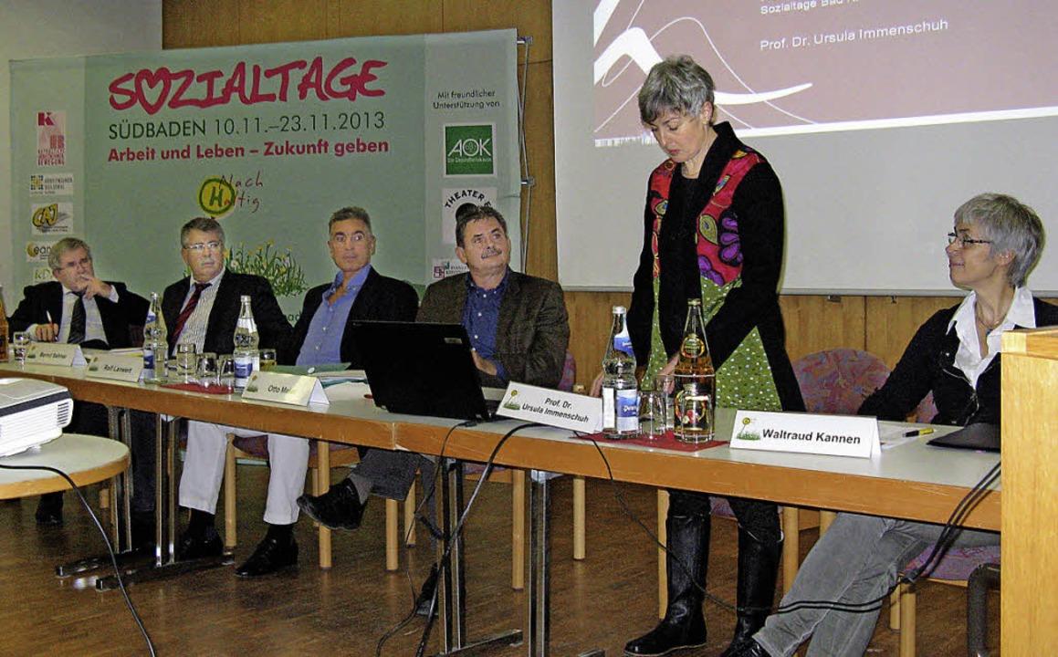 Pflegefachleute diskutierten in der Ku...gen im Rahmen der Sozialtage Südbaden.  | Foto: D. Möller-Barbian