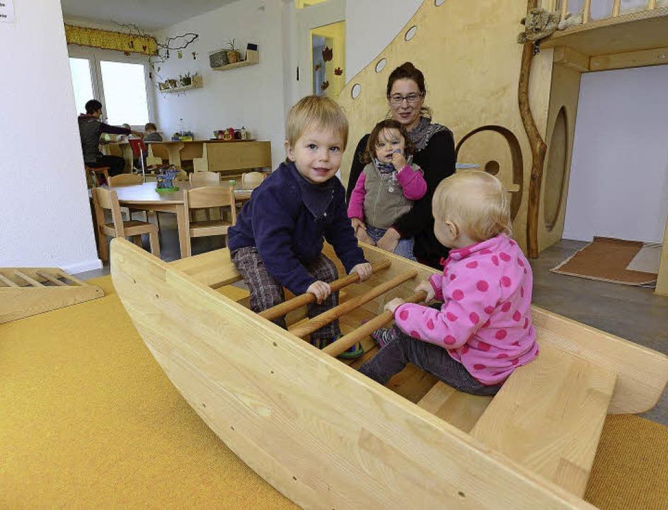Alles aus Holz und fast wie daheim: Sa...  20 Kleinkinder Familien-Atmosphäre.     Foto: Schneider