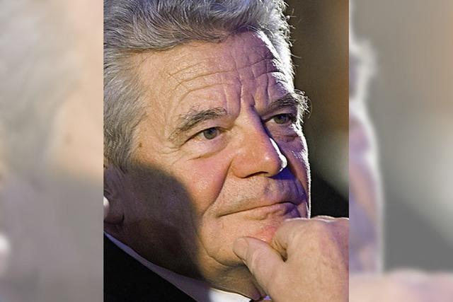 Joachim Gauck trifft in Gengenbach das Grüffelo