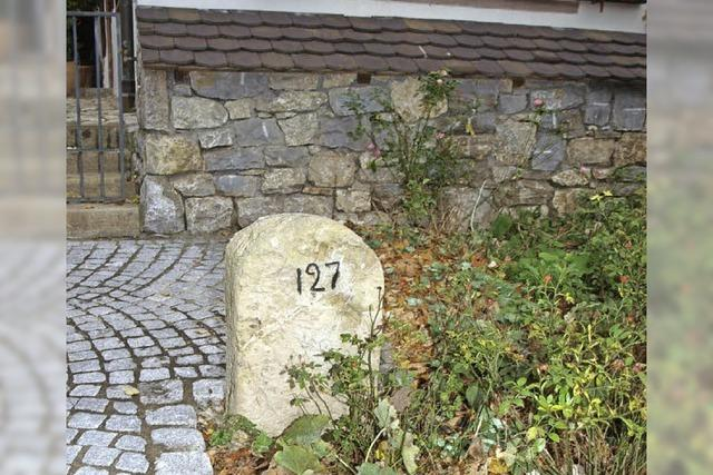 Ältester Stein ist von 1591