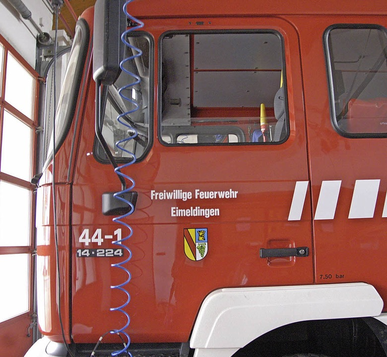 Die Feuerwehr Eimeldingen wünscht sich...2015 einen Gerätelastwagen beantragt.   | Foto: langelott