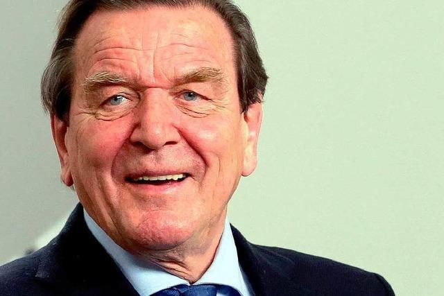 Gerhard Schröder plant Buch zu seinem 70. Geburtstag