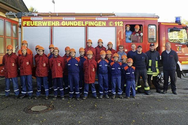Staufener Feuerwehrnachwuchs zeigt sein Können