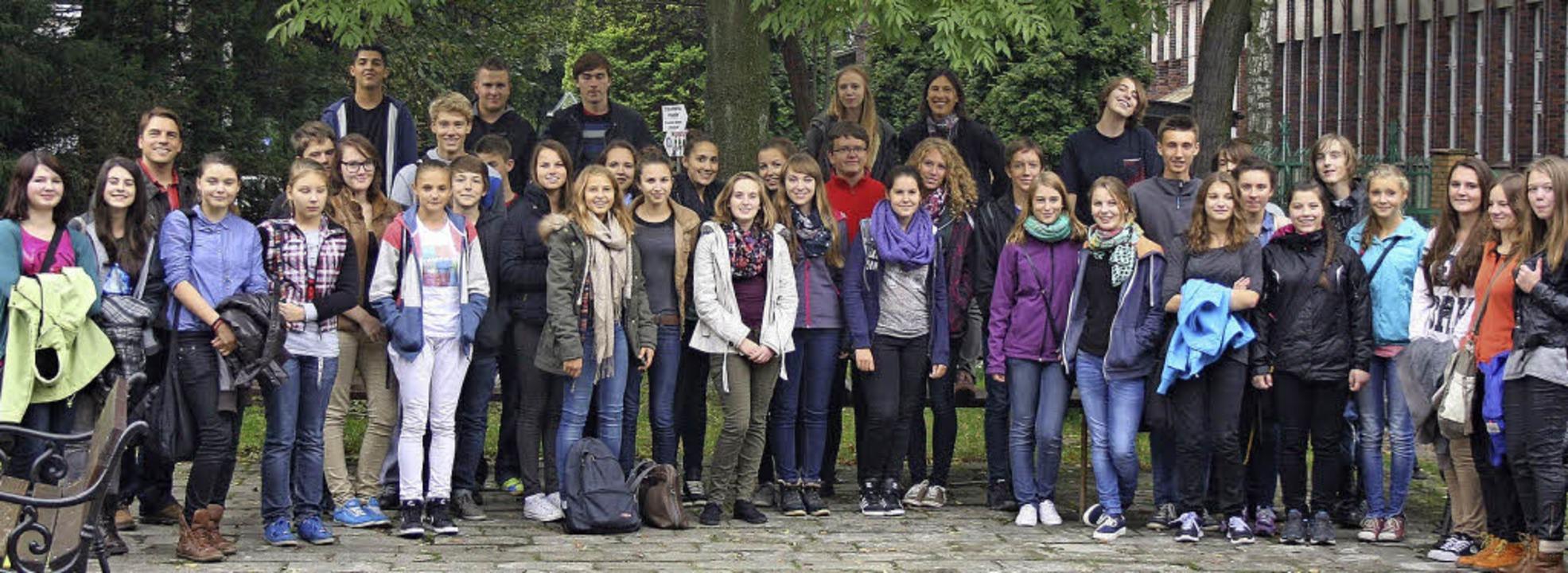 Viel erlebt haben Breisacher Schüler in der Partnerstadt Oswiecim.  | Foto: privat