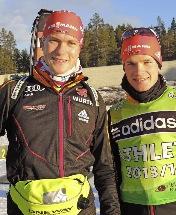 Die Sonne schien, Benedikt Doll (links... Doll verging in Schweden das Lachen.   | Foto: UmS