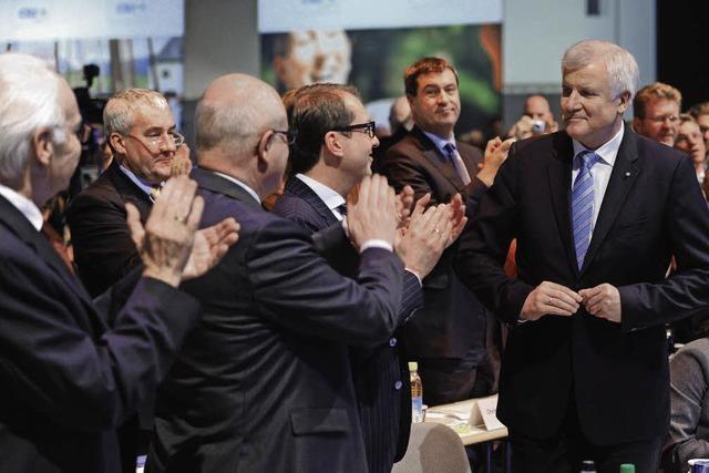 CSU-Parteitag beschert Seehofer ein Rekordergebnis