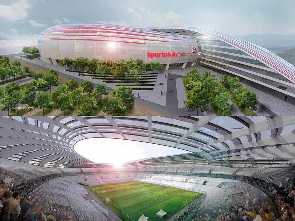 Ein Mix aus Fußballstadion, Konzertstätte, Hotel und Bürokomplex...  | Foto: Privat