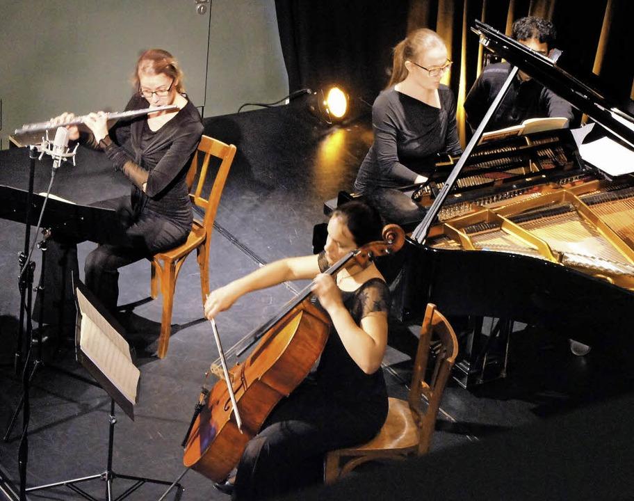 Das Trio Quer-Strich bei der Matinee i... 2007 als festes Ensemble Kammermusik.  | Foto: Ilona Hüge