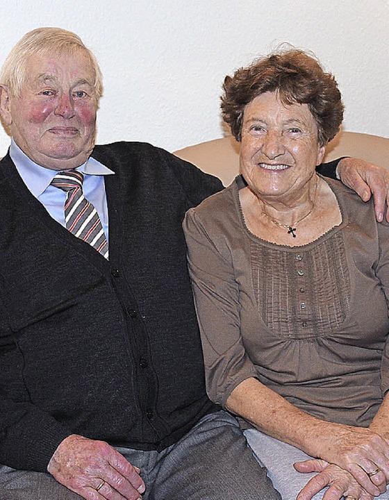 Die feiern heute in Gottenheim Diamant...ochzeit: Alfred und Anneliese Maier .   | Foto: mario schöneberg