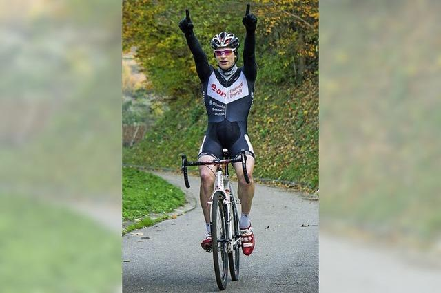 Jasha Sütterlin wird in Achkarren Landesmeister im Radcross