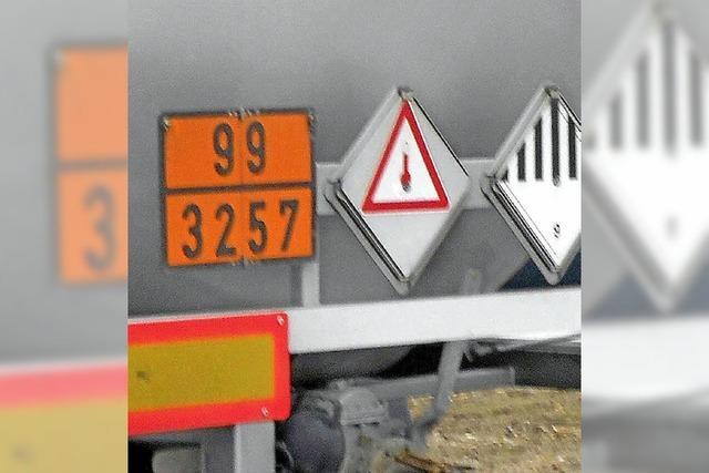 Gefahrgut auf der Zollfreien – Weil am Rhein und Lörrach wollen rasch handeln