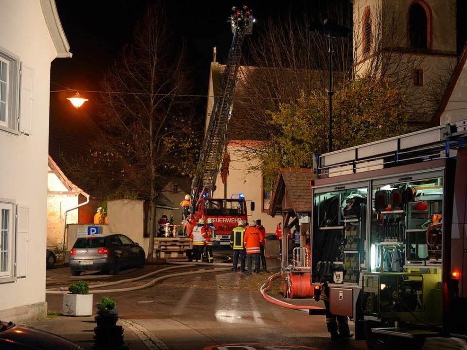 Feuer in der evangelischen Kirche in Eimeldingen   | Foto: Privat