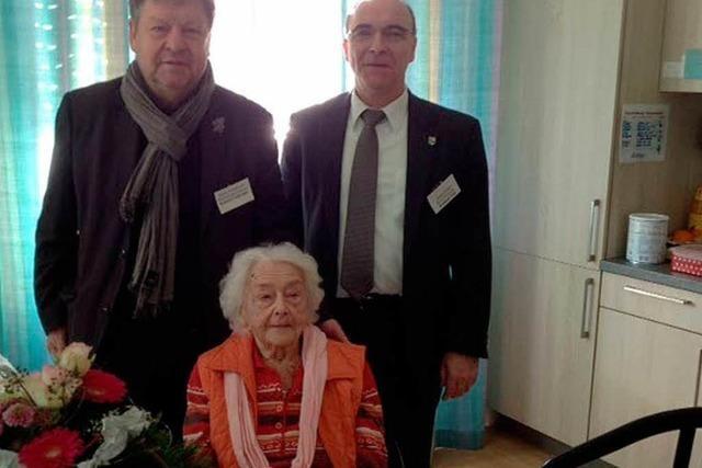 Gerda Voss feiert ihren 100. Geburtstag