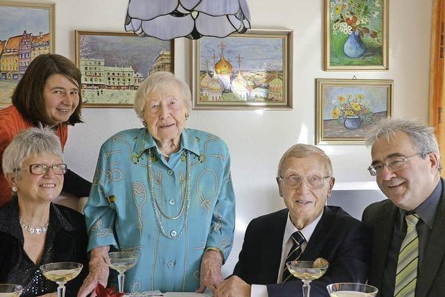 Ingrid Hübner ist älteste Einwohnerin Bad Krozingens