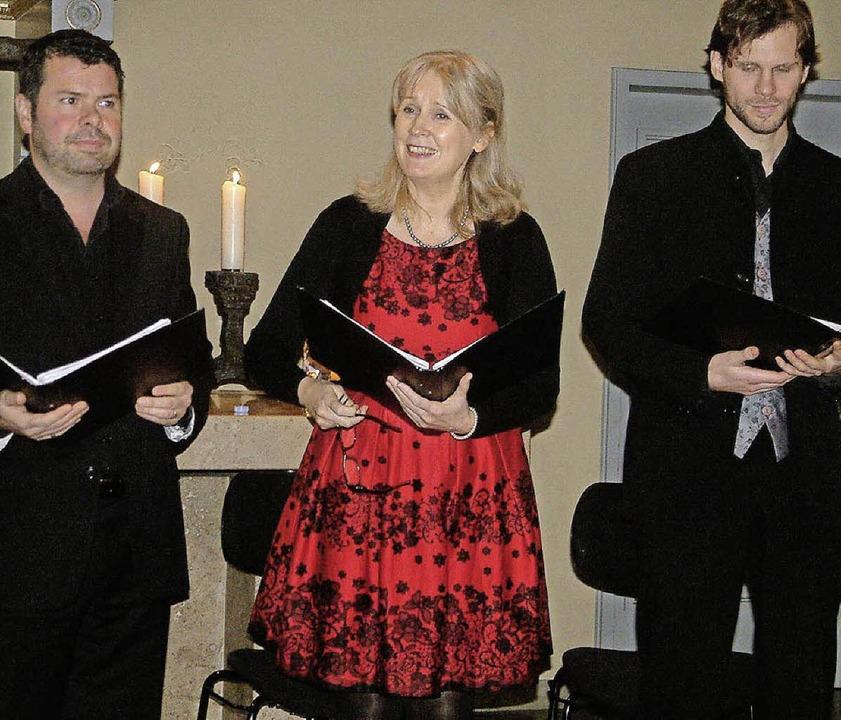 """Das Vokaltrio White Raven bildet wiede... von """"Stimmen im Advent"""".     Foto: archivbild: Roswitha Frey"""