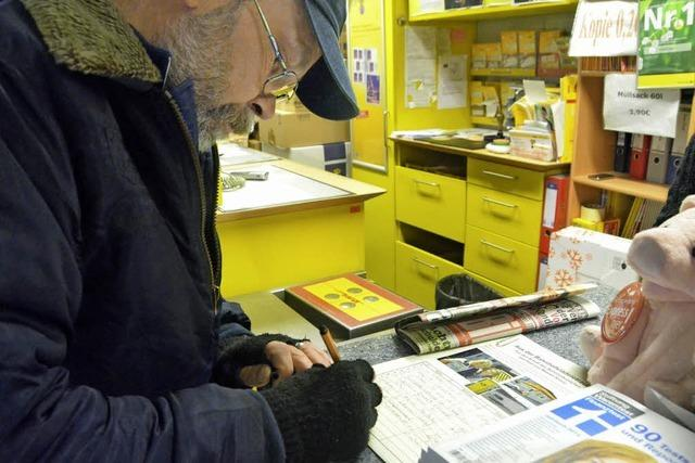 Unterschrift für Postladen
