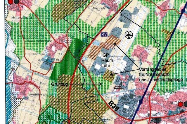Riedgemeinden gegen Lahrs Grünzug-Pläne
