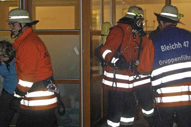 Bleichheimer Abteilungsfeuerwehr führt Nachtalarmübung durch