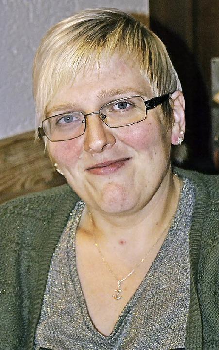 Nicole Seeberger, die neue Bergvögtin von Riedichen.    Foto: Paul Berger
