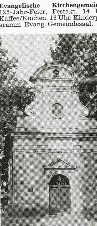 Mit dieser Meldung  wies 1998 die BZ a...der evangelischen Kirchengemeinde hin.  | Foto: Uli Schulze