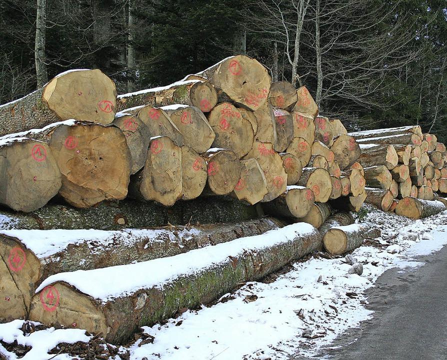 Die Nachfrage nach Nadelholz ist nach ...vatwaldbetriebsgemeinschaft Gersbach.   | Foto: Sutter