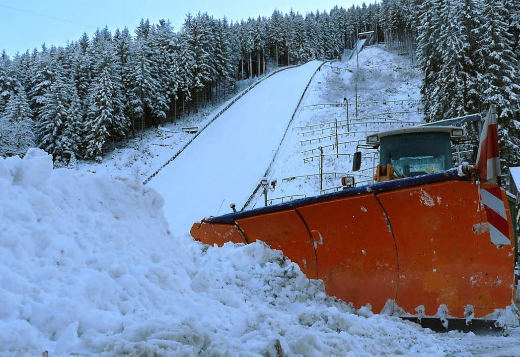 Bereit für ein Weltcup-Wintermärchen a...iß an der Neustädter Hochfirstschanze.  | Foto: Bachmann