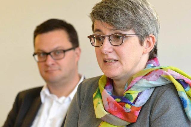 Pressekonferenz mit Silke Krebs