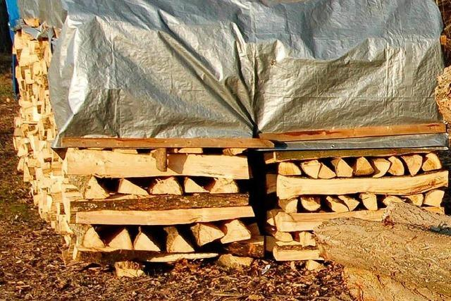 In Huttingen ist Holzauktion