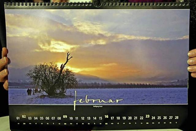 Ein Kalender, der Projekt ist