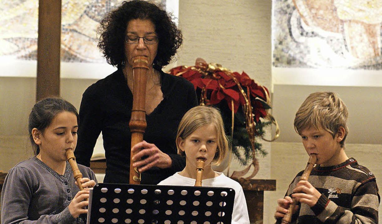 Blockflötenensemble Adventsmusik Musikschule   | Foto: Chris Rütschlin