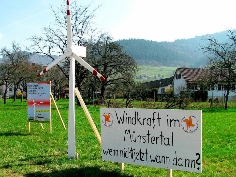 Im März 2011 wurden die Münstertäler B...äste des Tales zu diesem Thema äußern.  | Foto: Manfred Lange