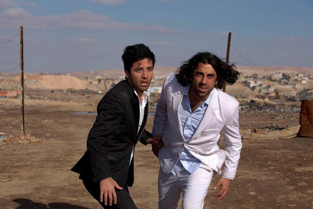 Ungleiche Brüder im palästinensisch-is...: Karim Saleh (rechts),  Navid Akhavan  | Foto: zorro