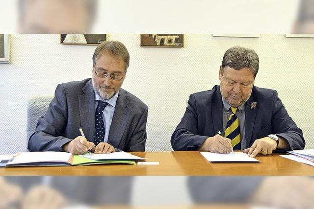 Unterschrift unter Zielvereinbarung