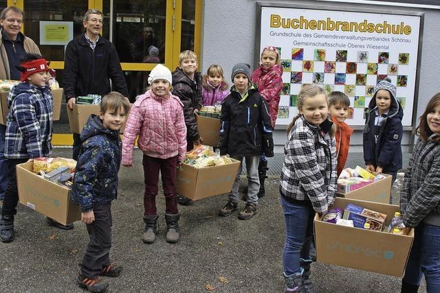 Schüler sammeln 160 Kilo Lebensmittel für die Tafel