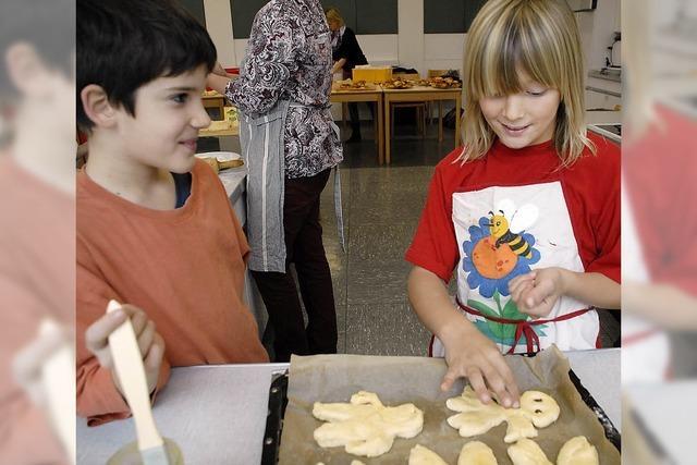 Kinder helfen mit 600 Grättimännern