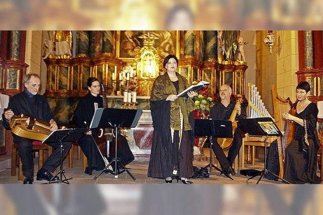 Mit Gambe, Harfe und Flöte