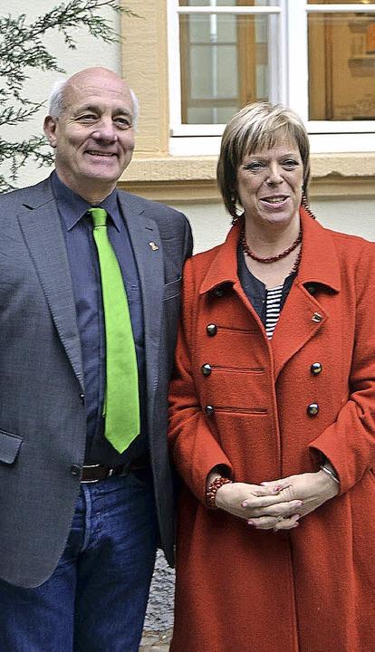 Sabine Wölfle (SPD) und Alexander Scho...ne) blicken zuversichtlich nach vorne.  | Foto: Alexander