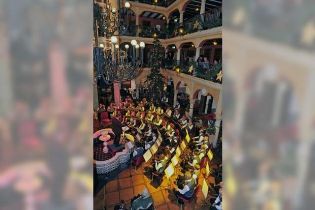 Musikkapelle unterstützt die Aktion Treffpunkt