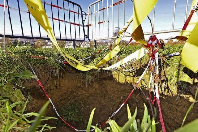 Experten warnen: Löcher im Baugebiet sind Dolinen