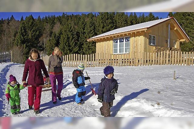 Naturkindergarten im ersten Wintertest