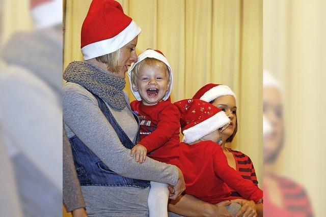 Weihnachtsmann trainiert Nachfolger