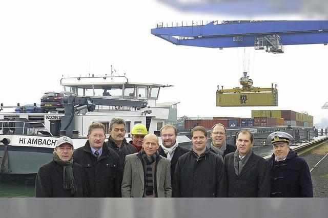 Hafen Kehl steuert auf neuen Rekord zu