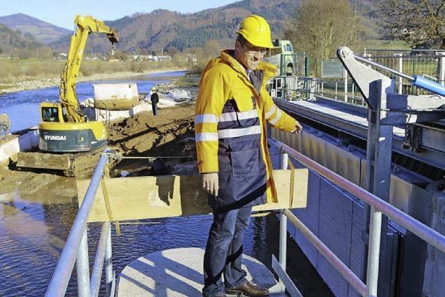 Lachse finden künftig den Flussweg - der Fischtreppe sei Dank
