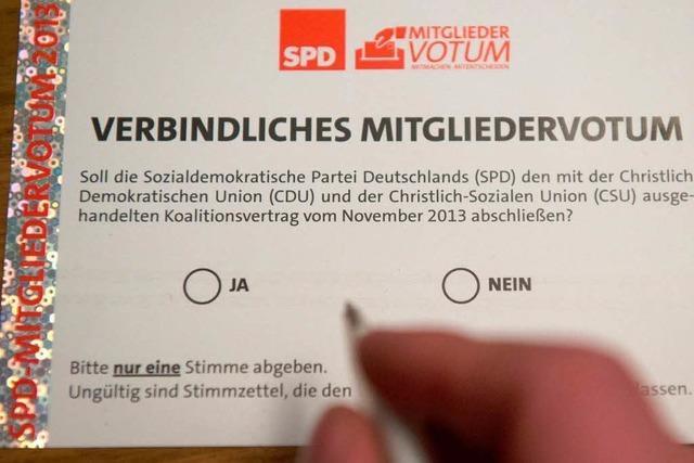 300.000 Genossen haben über die Große Koalition abgestimmt