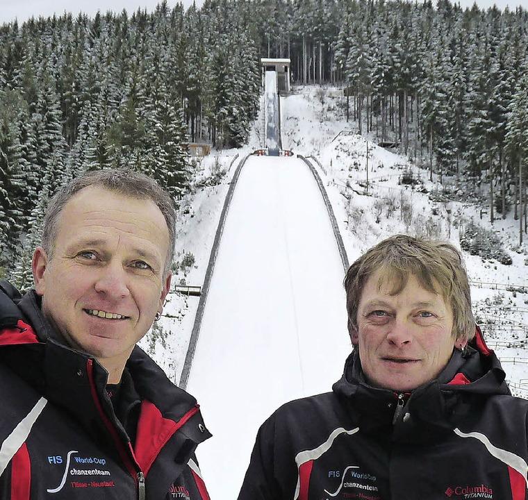 Sie sind sicher, dass der Weltcup eine...äfker (rechts) und Matthias Schlegel.     Foto: Bachmann