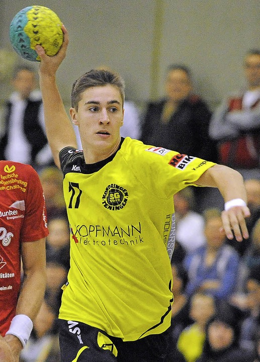So federleicht spielt kaum ein Handballer: Pascal Bührer   | Foto: Achim Keller